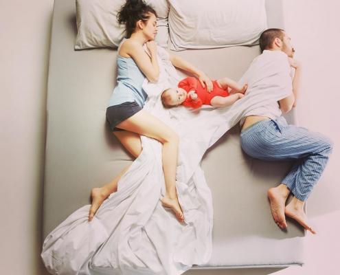 Veilig samen slapen. Co-slapen en bedsharing